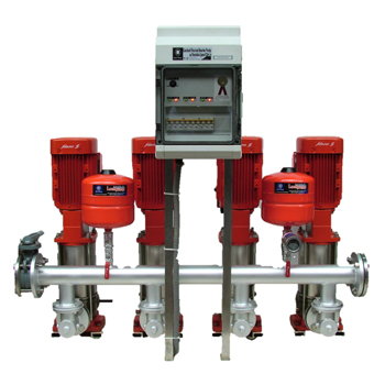 Vertical constant pressure pump set